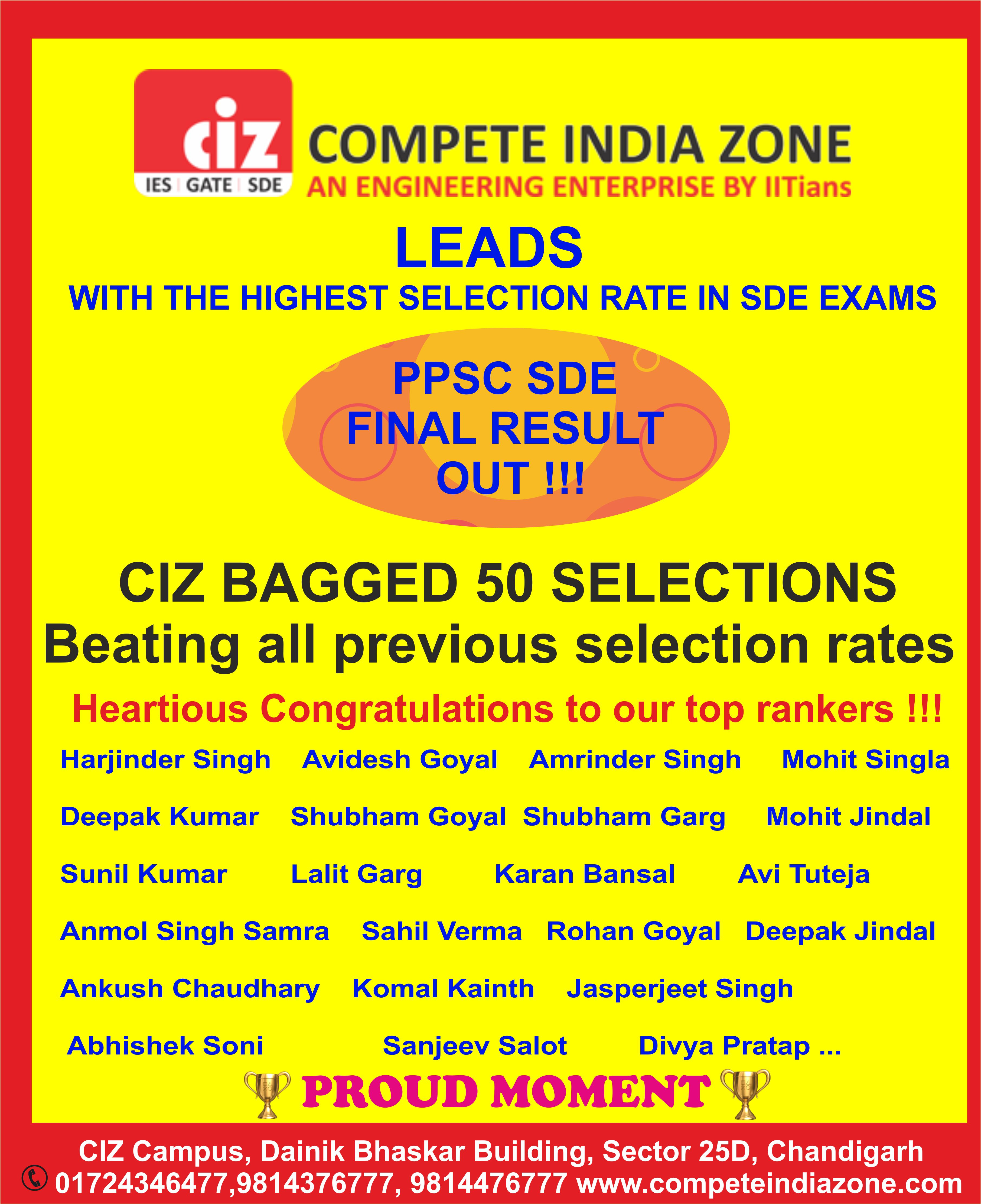 PPSC Best Coaching for SDO JE in Chandigarh