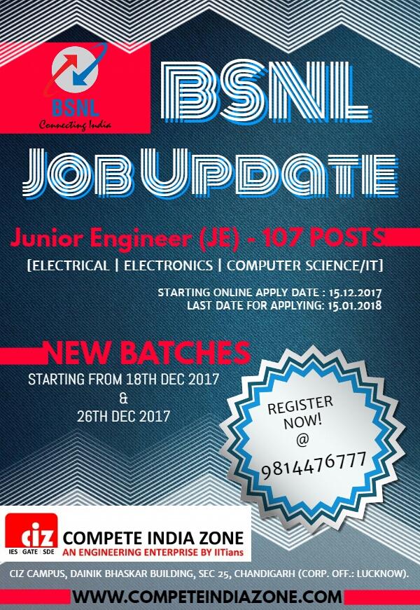 BSNL Recruitment Coaching in Chandigarh
